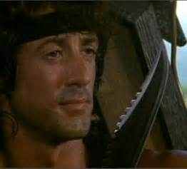 film jan rambo knife used by sylvester stallone in rambo is destroyed