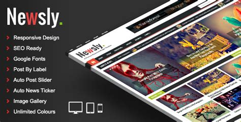 themeforest blogger newsly responsive multipurpose blogger template by