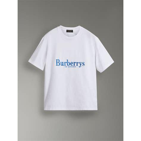 Tshirt Sablon United reissued cotton t shirt in white burberry united states