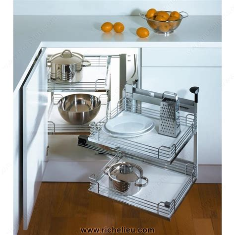 magic corner kitchen cabinet magic corner ii set for a min opening of 444mm 17 1 2