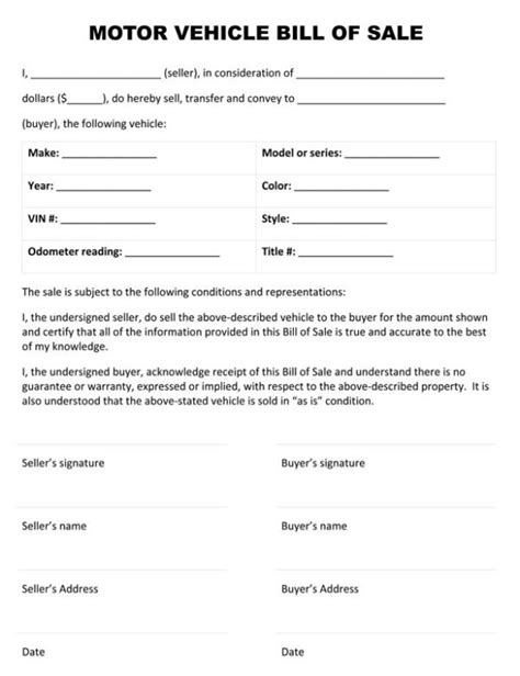bill of sale for vehicle vehicle bill of sale form template sle calendar
