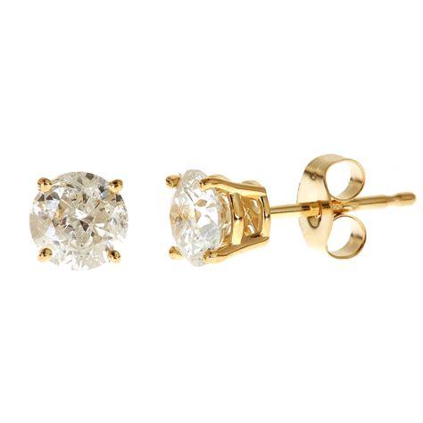 14k Yellow Gold Stud Earrings yellow gold earrings studs stud earrings