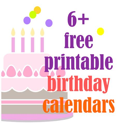 Free Search Birthday Free Birthday Calendar Template Printable Calendar Template 2016