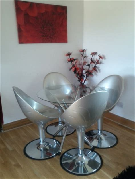 funky dining table and 4 swivel chairs for sale in ashtown