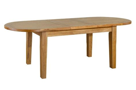 tuscany solid oak dining room furniture oval extending - Solid Oak Dining Table