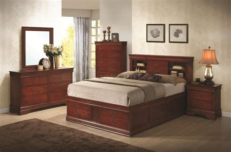 louis philippe bedroom louis philippe 200439 bedroom in cherry by coaster w options