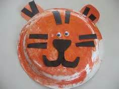 Tiger Paper Plate Craft - animal safari children s ministry curriculum ideas on