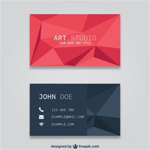 free template business cards polygonal business card templates vector free