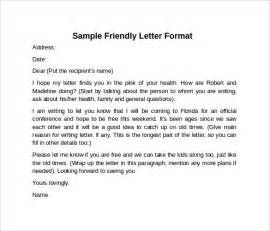 Friendly Letter Template by Sle Friendly Letter Format 7 Free Documents