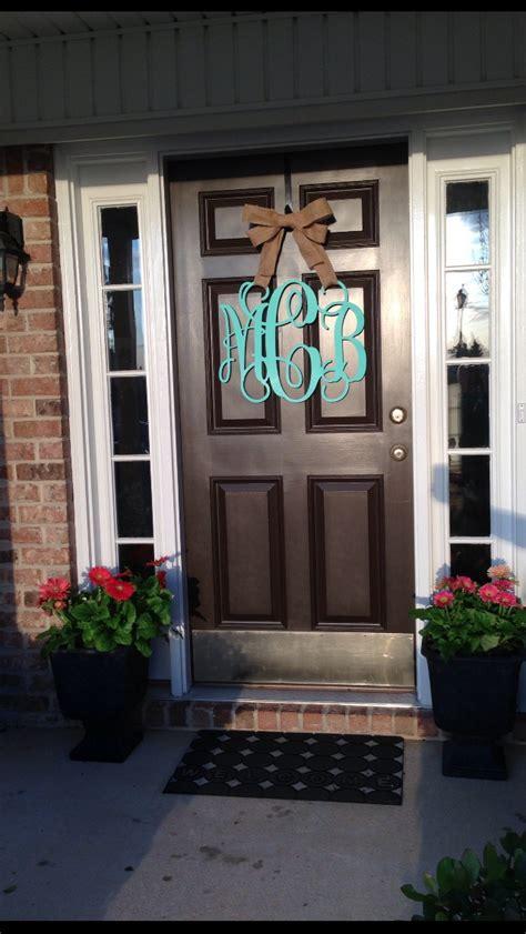 Wood Monogram For Front Door Wooden Monogram Front Door Fancy Front Door