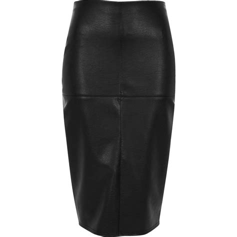 black faux leather panel pencil skirt skirts sale