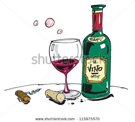 cartoon wine glass cartoon of bottle of wine and glass stock vector