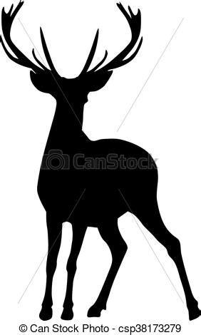 imagenes de venados a blanco y negro ilustraciones vectoriales de venado silueta negro