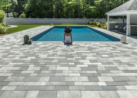 chic foxboro ma pool deck  patio  landscape america