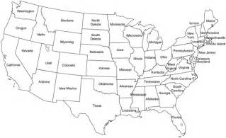 united states map outline map