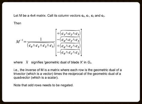 Inverse of a 3x3 or 4x4 matrix using the progressive ... C- 4x4 Matrix Inverse