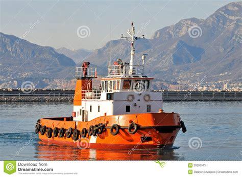 tugboat or tugboat orange tugboat stock photos image 30501513