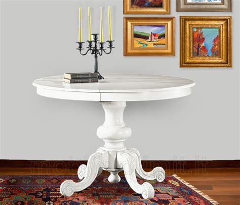 tavolo rotondo allungabile bianco classico tavolo da pranzo shabby chic bianco rotondo