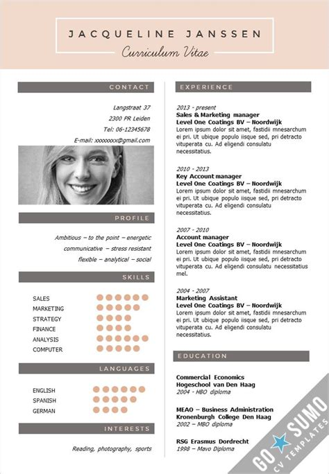 creative resume templates 53 best go sumo cv templates resume curriculum vitae