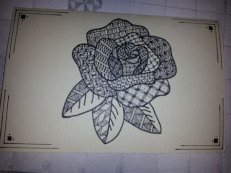 zentangle pattern rose 1000 images about zentangling on pinterest how to