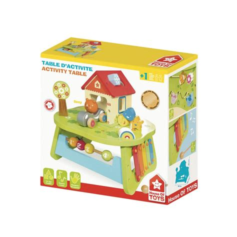 house of toys wooden multi activity table for children off 1 year