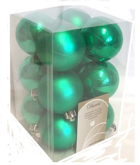 green baubles decorations 12 luxury shatterproof baubles tree decorations