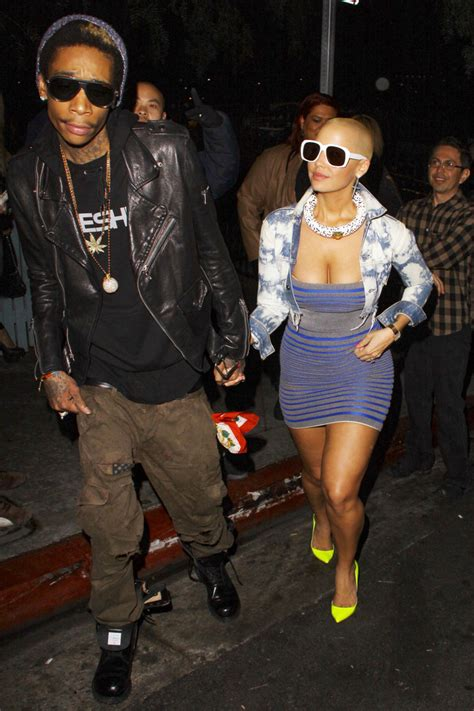 wiz khalifa house amber rose and wiz khalifa check out guns n roses at the house of blues in los