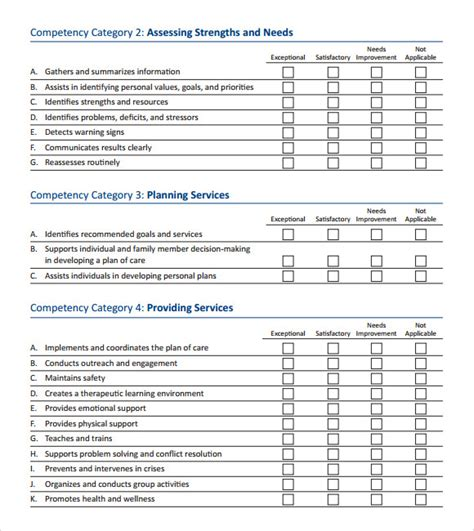 Skills Assessment 8 Download Free Documents In Pdf Word Excel Skills Assessment Matrix Template