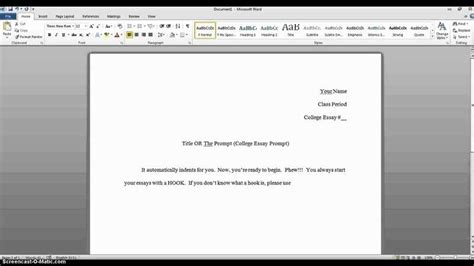 College Essay Header by Mla Essay Header