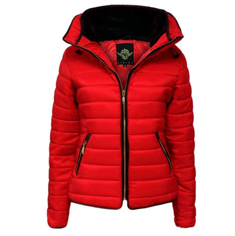 Quilted Puffer Padded Jacket Fur Collar