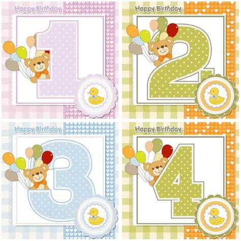 Happy 1 Month Birthday Card Kids Vector Graphics Blog Page 2