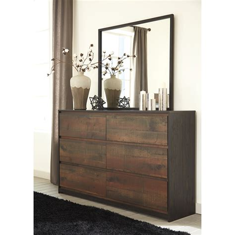 modern rustic dresser bedroom mirror by signature design
