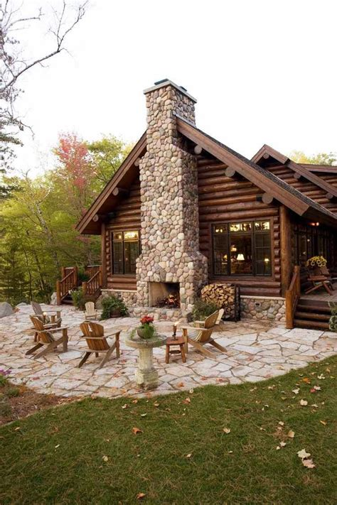 log home design tips log cabin with outdoor fireplace rustic western decor
