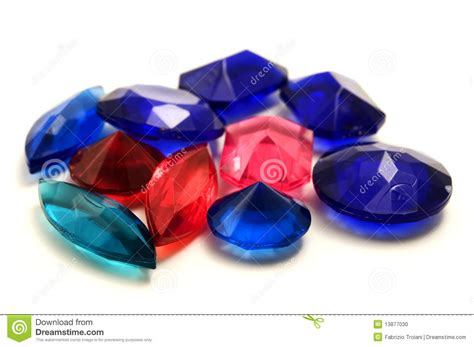 plastic gemstones stock photo image 13877030