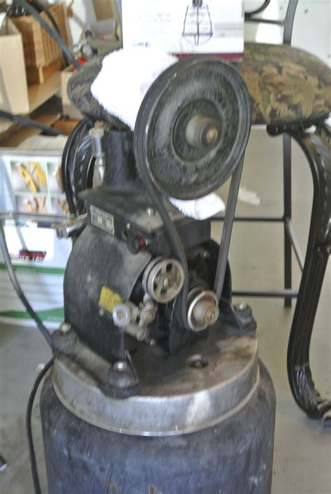 antique dental air compressor in as found condition filthy and covered in grease needs