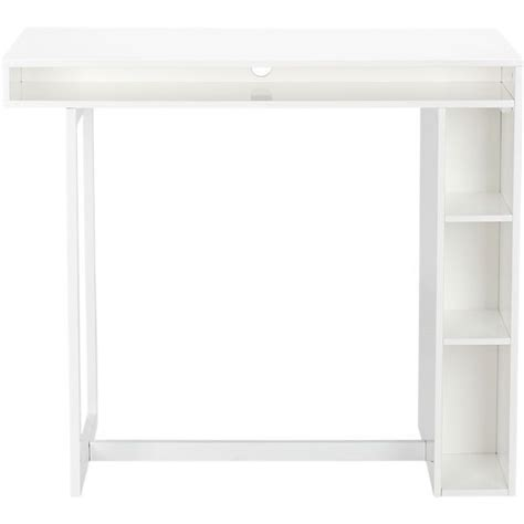 Cb2 Standing Desk by White 42 Quot High Dining Table