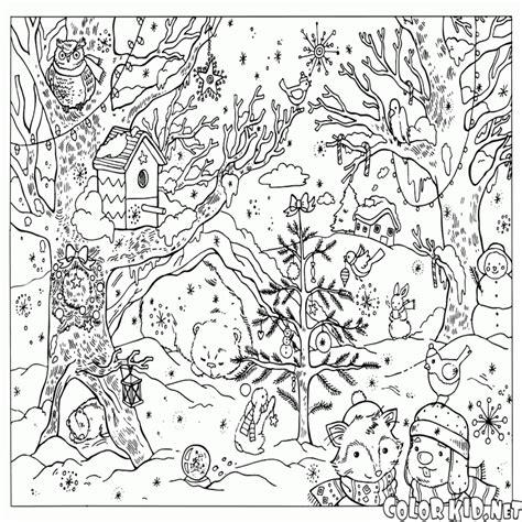 imagenes infantiles de invierno para imprimir dibujo para colorear bosque de invierno colorear website