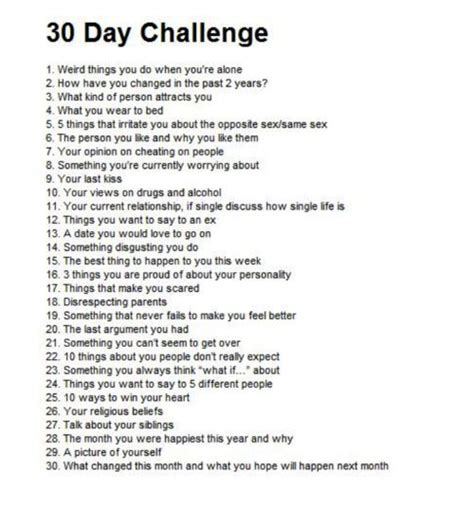 A Written Challenge by 30 Day Journal Diary Entry Challenge Some Questions You