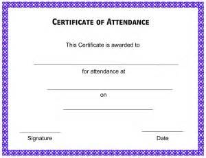 certificate of attendance template free formats excel word