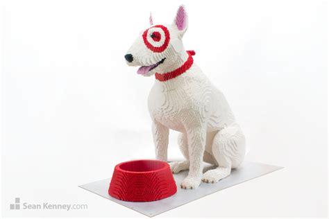 puppy target kenney with lego bricks bullseye the target