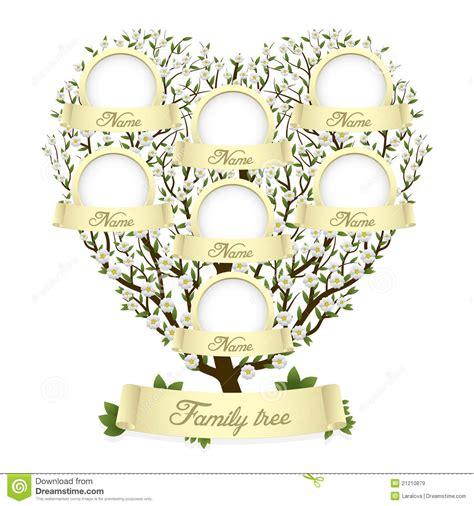 Family Tree In Heart Shape Stock Vector Illustration Of History 21210879 Family Tree Stock Images Royalty