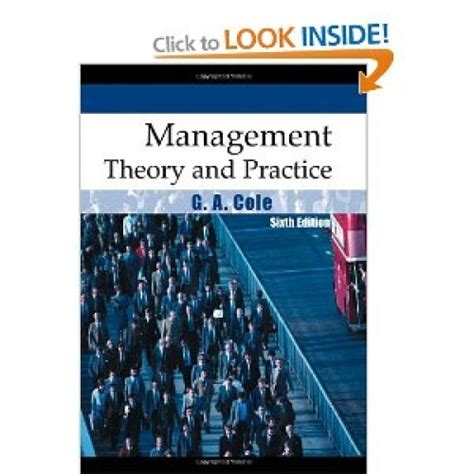 leadership for health theory and practice books management theory and practice 6th edition by g a cole