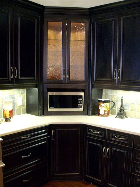 microwave in kitchen cabinet corner built in microwave cabinet with glass door upper