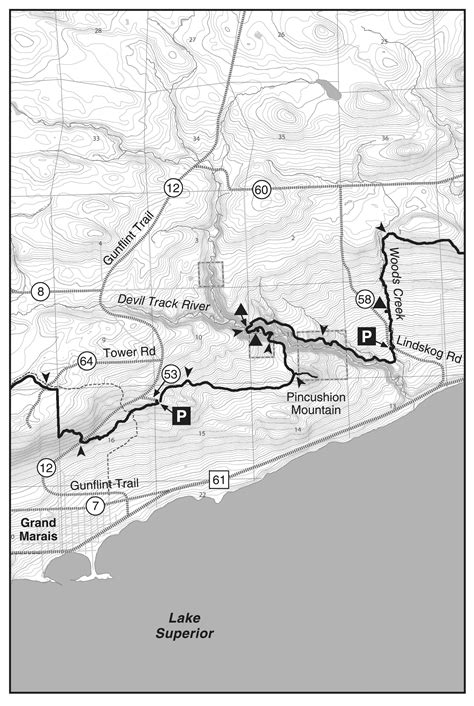 section 8 cook county grand marais hiking to otter lake road sht