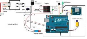 gsm pump motor controller circuit using arduino part 1
