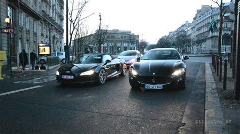 Battle Maserati Granturismo S Vs Audi R8 V10 Spyder