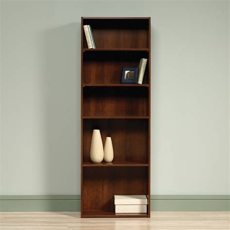 sauder cherry bookcase sauder beginnings 5 shelf bookcase