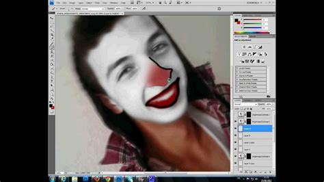 tutorial photoshop for beginner make clown face photoshop tutorial for beginners 2nd