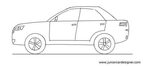 car drawing tutorial 4 door car side view car drawing