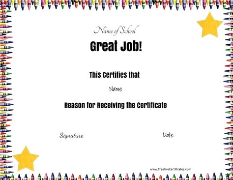 free award certificate templates for students template certificate template free printable award